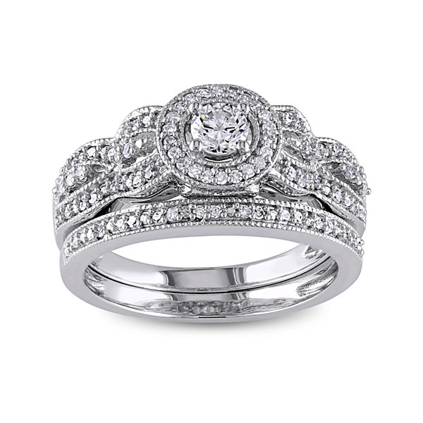 1/2 CT. T.W. White Diamond 10K Gold Bridal Set