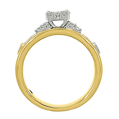Eterno Amor Womens 1/2 CT. T.W. Genuine Diamond 14K Gold Engagement Ring