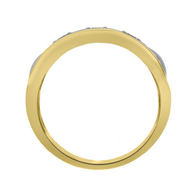 Eterno Amor Womens 1/5 CT. T.W. Diamond 14K Gold Band
