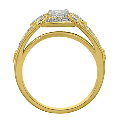 Eterno Amor Womens 5/8 CT. T.W. Round White Diamond 14K Gold Engagement Ring