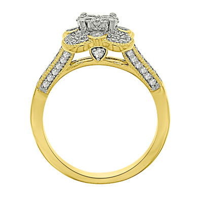 Eterno Amor Womens 3/4 CT. T.W. Genuine Round White Diamond 14K Gold Engagement Ring