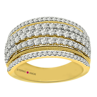 Eterno Amor Womens 1 CT. T.W. White Diamond 14K Gold Band