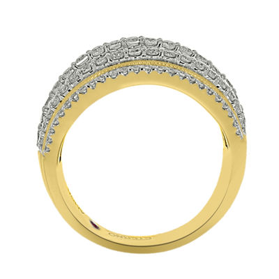Eterno Amor Womens 1 CT. T.W. Genuine White Diamond 14K Gold Band