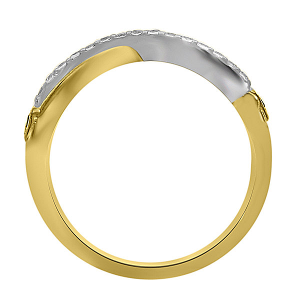 Eterno Amor Womens 1/6 CT. T.W. White Diamond 14K Gold Band