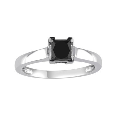 Midnight Black Diamond 1 CT. Color-Enhanced Black Diamond 10K White Gold Engagement Ring