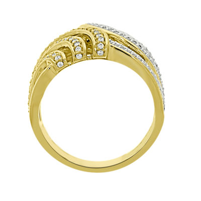 Eterno Amor Womens 1/2 CT. T.W. Genuine White Diamond 14K Gold Band