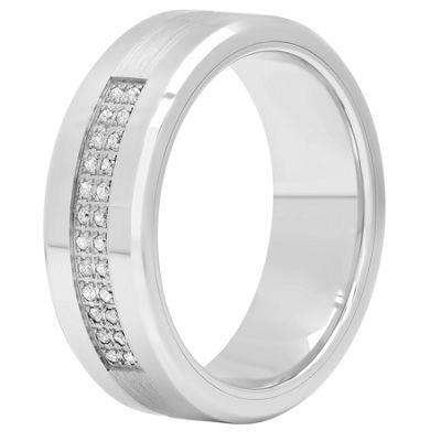 Mens 8 Mm 1/8 CT. T.W. Genuine Diamond Cobalt Band