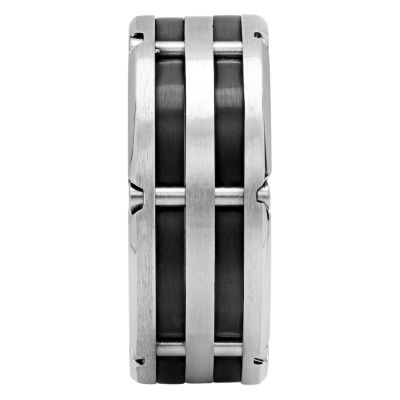 Mens Stainless Steel Wedding Band