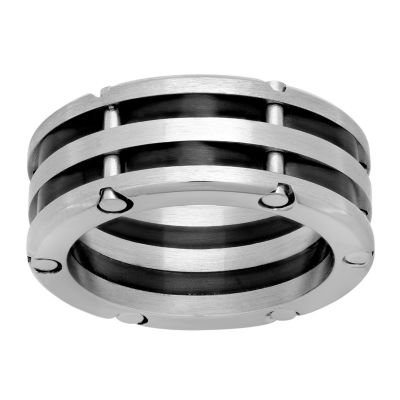 Mens 10 Mm Stainless Steel Band