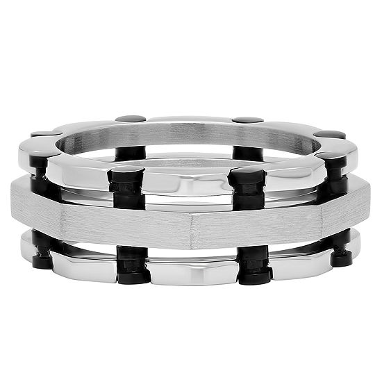 Mens 9 Mm Stainless Steel Wedding Band