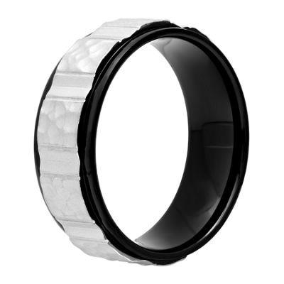 Mens 8 Mm Stainless Steel Band