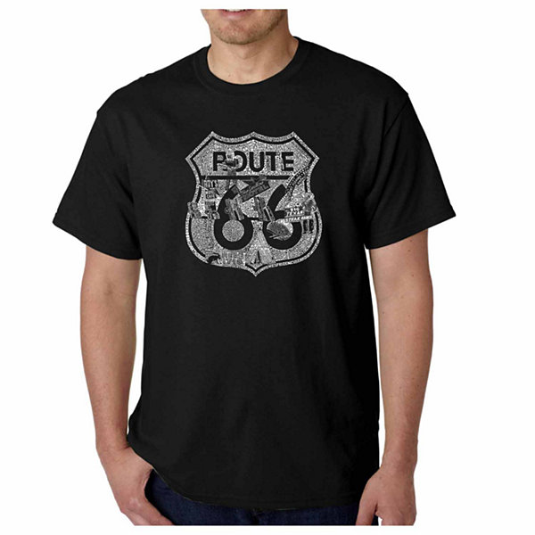 Los Angeles Pop Art Stops Along Route 66 Short Sleeve Word Art T-Shirt