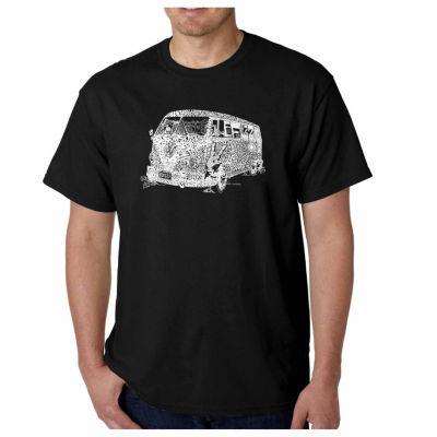 Los Angeles Pop Art the 70's Short Sleeve Word ArtT-Shirt