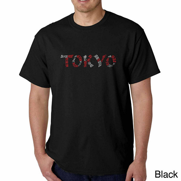 Los Angeles Pop Art the Neighborhoods of Tokyo Short Sleeve Word Art T-Shirt