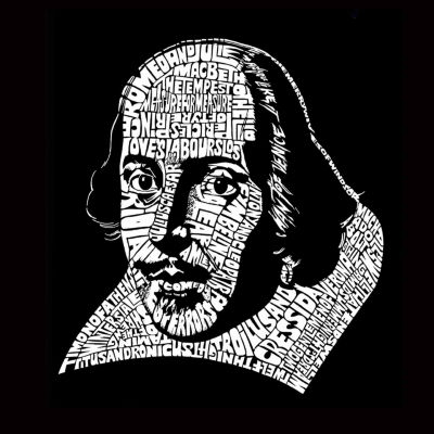 Los Angeles Pop Art William Shakespeare Short Sleeve Word Art T-Shirt