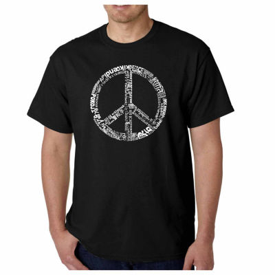 Los Angeles Pop Art the Word Peace in 77 LanguagesShort Sleeve Word Art T-Shirt