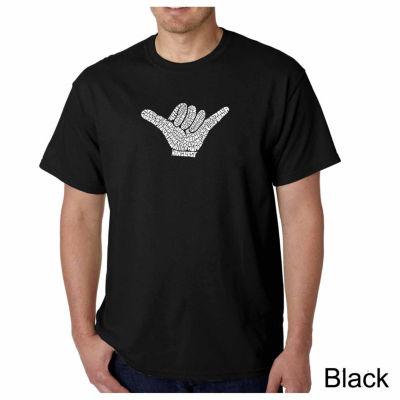 Los Angeles Pop Art Top Worldwide Surfing Spots Short Sleeve Word Art T-Shirt