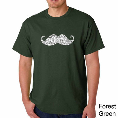 Los Angeles Pop Art Ways to Style a Moustache Short Sleeve Word Art T-Shirt