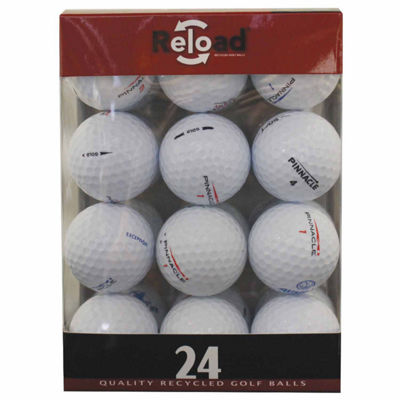 Reload 24 Pack Pinnacle Recycled Golf Balls.