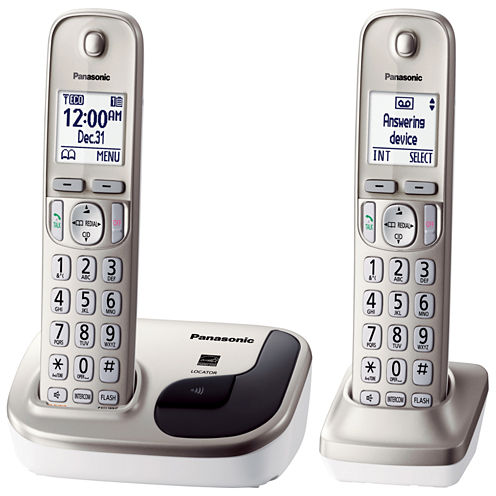 Panasonic KX-TGD212N Expandable Digital Cordless Phone with 2 Handsets - Champagne Gold