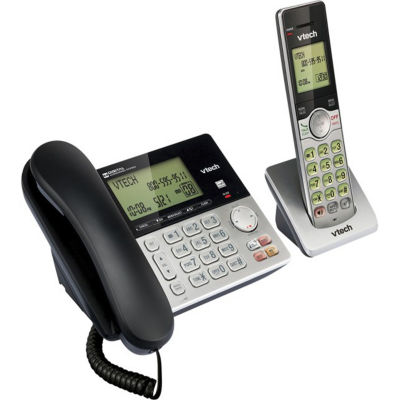 VTech CS6949 DECT 6.0 Expandable Corded/Cordless Answering System with Caller ID