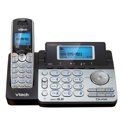 VTech DS6151 DECT 6.0 2-Line Expandable Cordless Phone with Digital Answering System, 1 Handset