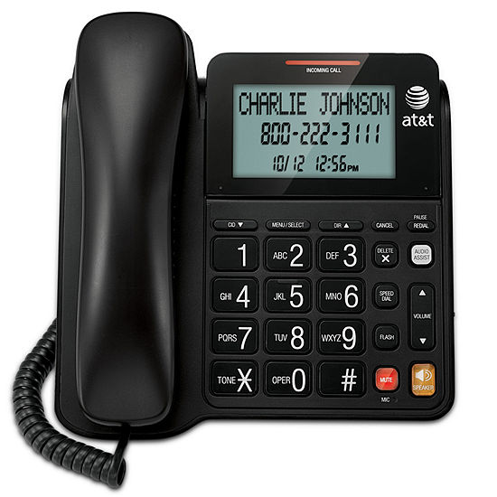 AT&T CL2940 Corded Speakerphone with Large Tilt Display and Caller ID/Call Waiting - Black