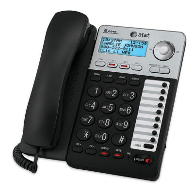 AT&T ML17929 2-Line Corded Answering System with Caller ID/Call Waiting