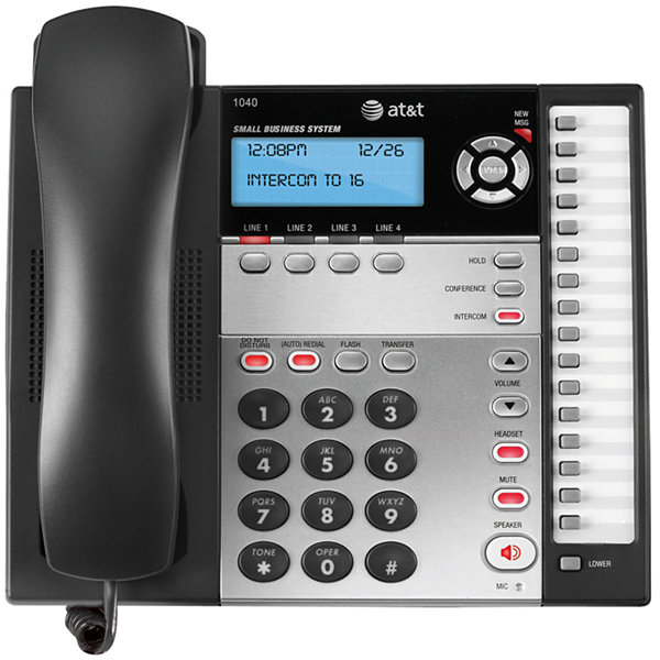 AT&T 1040 4-Line Corded Expandable Speakerphone