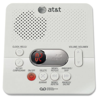 AT&T 1740 Digital Answering System with Time/Day Stamp