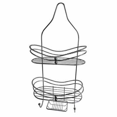 Elegant 2-Shelf Shower Caddy With Soap Dish