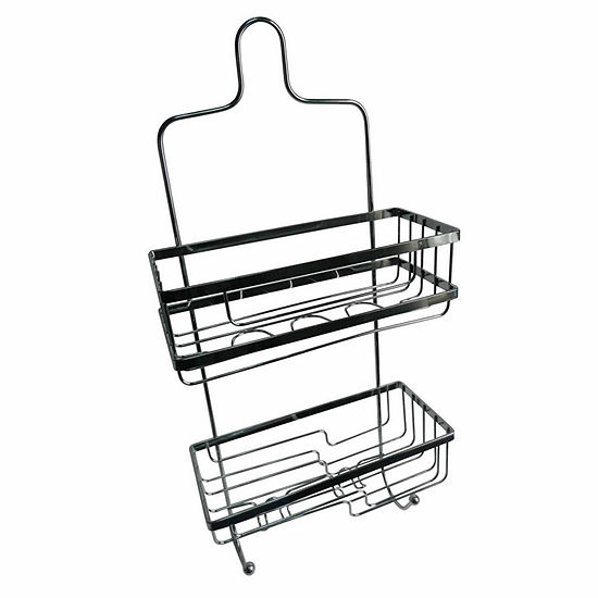 Elegant 2-Compartment Square Shower Caddy