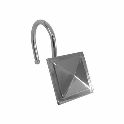 Elegant Square Diamond Shower Curtain Hooks