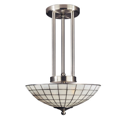 Dale Tiffany™ White Dome Hanging Fixture