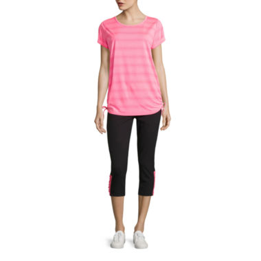 jcpenney.com   Made For Life Short Sleeve Side Tie Knit Tee or Knit Capris