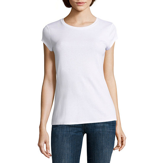 0bd5546b2f121 Liz Claiborne Short Sleeve Crew Neck T Shirt Womens JCPenney