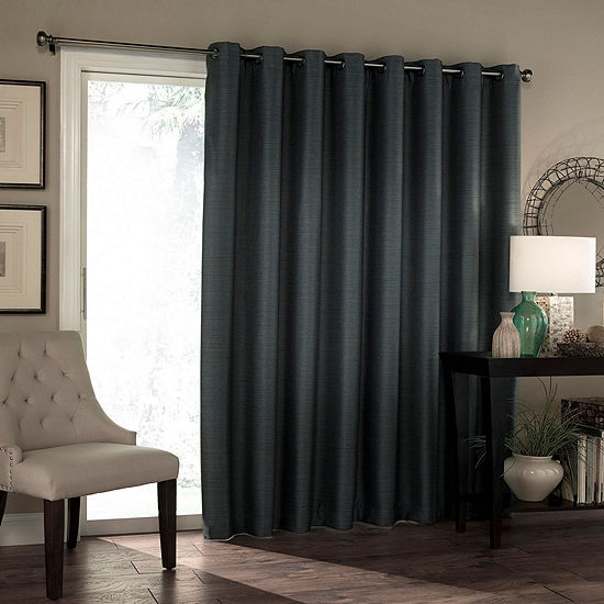 Eclipse Bryson Blackout Grommet-Top Single Patio Door Curtain