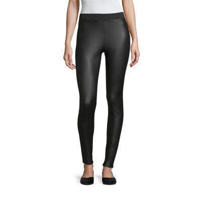 Mixit Pleather Front Ponte Womens Slim Legging