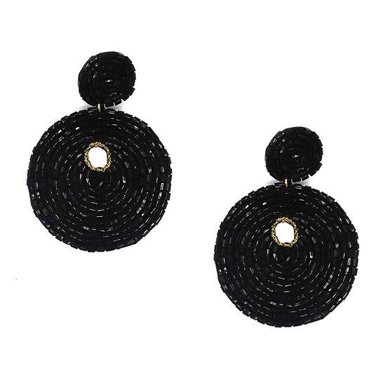 Bijoux Bar Black Beaded Drop Earrings