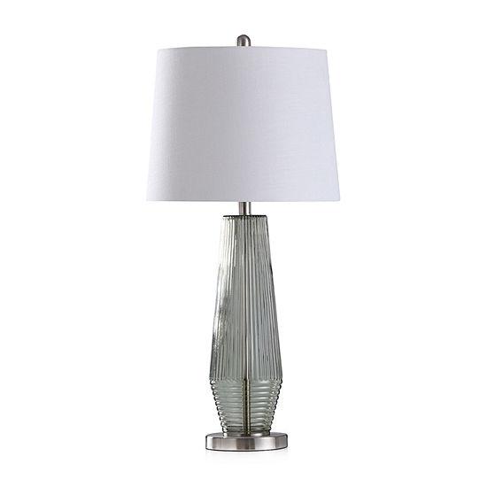 Stylecraft Erica Sage Green Glass Table Lamp