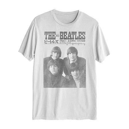 Music Mens Crew Neck Short Sleeve Graphic T-Shirt, Small , White