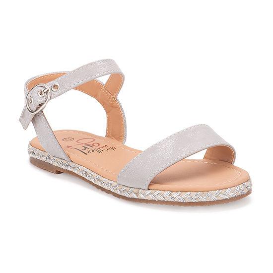 Olivia Miller Girls Raffa Flat Sandal Ankle Strap Flat Sandals