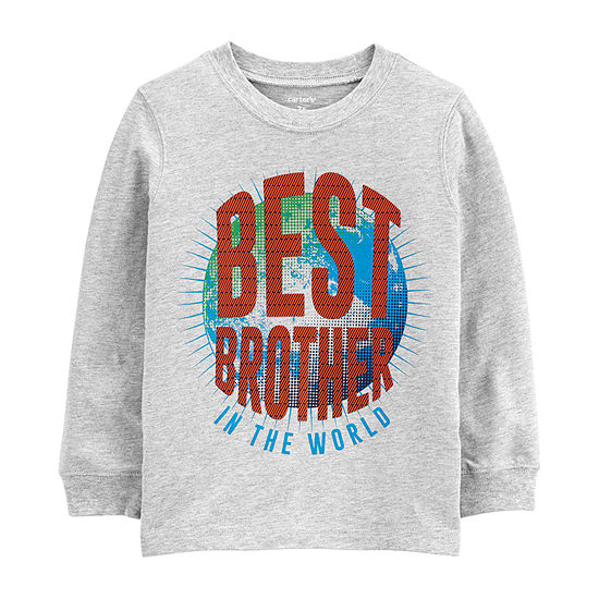 Carter's Toddler Boys Round Neck Long Sleeve Graphic T-Shirt
