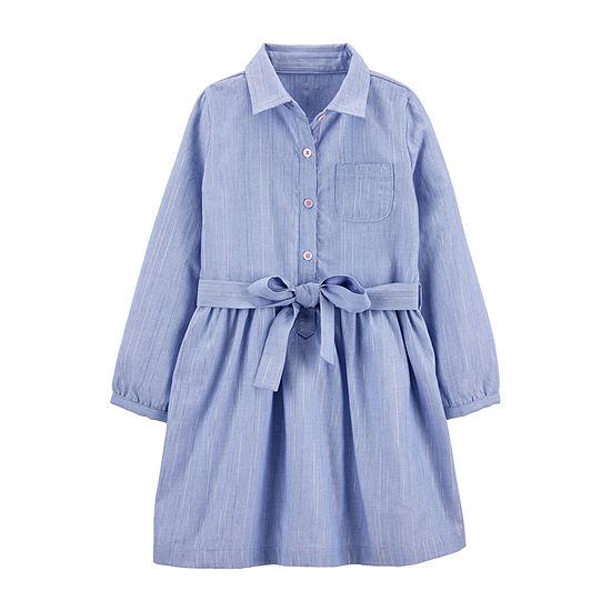 Carter's Toddler Girls Long Sleeve Shirt Dress