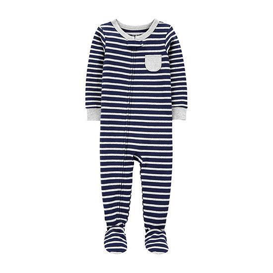 Carter's Toddler Boys Knit Long Sleeve One Piece Pajama