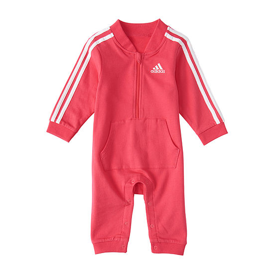 adidas Baby Girls Long Sleeve Embroidered Jumpsuit