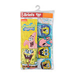 Little Boys 5 Pack Spongebob Briefs