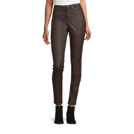 a.n.a Womens High Rise Coated Skinny Fit Jean, 4 , Brown - 84402930034