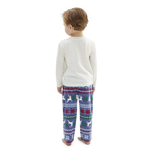 North Pole Trading Co. Fairisle Toddler Unisex 2-pc. Christmas Pajama Set