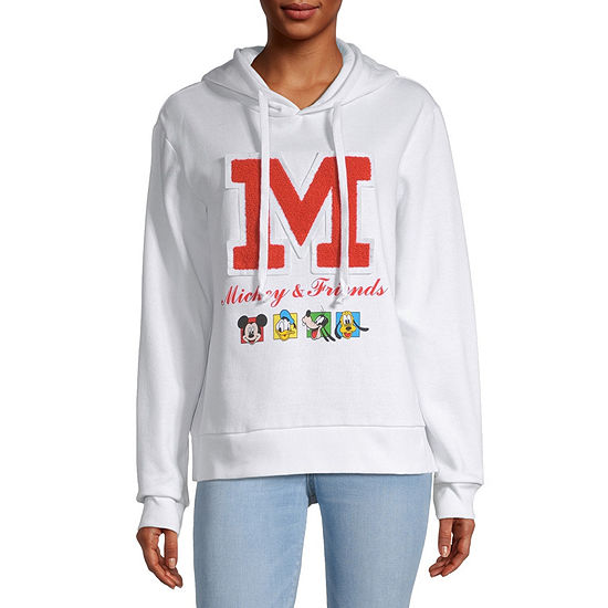 Mighty Fine-Juniors Womens Long Sleeve Mickey and Friends Fleece Hoodie
